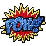 Pow brodé fer coudre Patch Sac badge Batman Superman Spiderman Comic Word