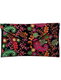 Shubhangi Women's Sling Bag (Jaipuri Embridered Handicraft Traditional Sling Bag,Multi-Coloured, R3 2027 Black)