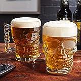 MIR9 MIRTM Skull Beer Mug 520ML for Your Home Bar(Set of 2)