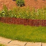 B-WARE - Beeteinfassung Weide in Vielen Größen ( 20 x 120 cm - 10x Minizaun ) · Weidenzaun zur Beet-Umrandung oder Weg-Abgrenzung
