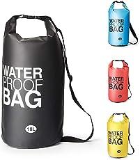 Premium Wasserdichte Tasche Dry Bag, Dry Tasche und lang Verstellbarer Schultergurt für Boot und Kajak, Angeln, Rafting, Schwimmen, Camping und Snowboarden - 10L / 20L