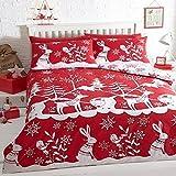 Mountain Snow copripiumino natalizio con federa, Red, Doppio