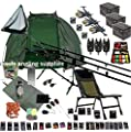 Full Carp Fishing Set Up ,Chair , Rods, NGT Reels, Alarms,Net,Handle,Bait Bivvy Shelter GIANT TACKLE PACK ,Mat ,Scales,Hooks by Mixed