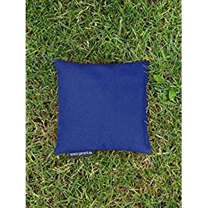Cornhole Säckchen blau (Granulat oder Mais), 15 x 15 cm, 400g (oder 250g) – Top Qualität made in Germany, handgemachtes…