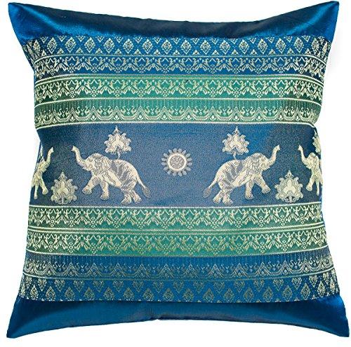 Avarada 40,6x 40,6cm (40x 40cm) Stampa Elefante Sun Throw Pillow Case Cuscino Decorativo per Divano Poltrona Letto Imbottitura Non Inclusa Cerniera, Poliestere, Blue Green, 16x16