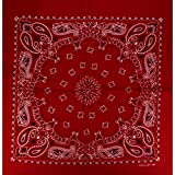 Alex Flittner Designs Bandana mit exclusivem Paisley Muster in rot