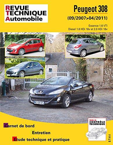 Revue Technique B731 Peugeot 308+Sw 09/2007 Es 1.6+1.6hdi