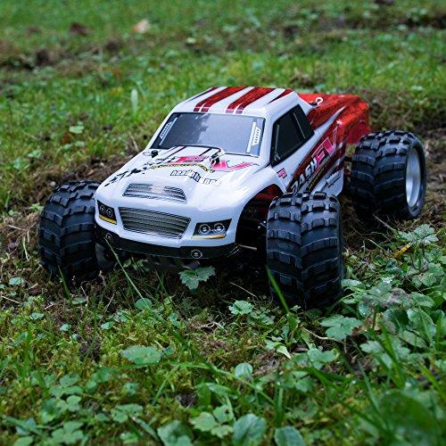 efaso WL Toys A979-B - schneller RC Monstertruck 70 km/h schnell, wendig, voll digital proportional - 2.4 GHz RC Auto mit Allradantrieb - Maßstab 1:18, hoher Fun Faktor - 7