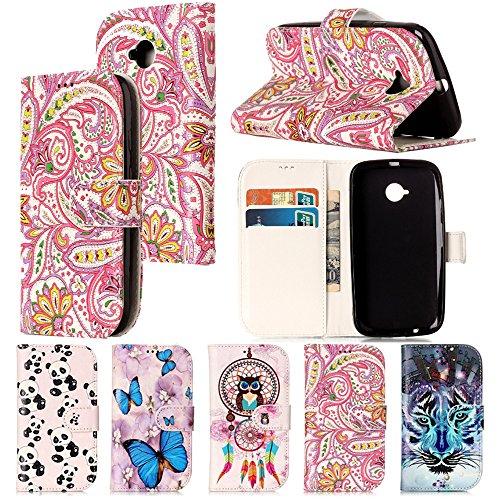 Moto E (zweiter Generation) Fall, Ivy Moto E2PU Leder Wallet Ledertasche mit Standfunktion für Motorola Moto E 2Nd Gen Phone, Phoenix Flower Phoenix Flower