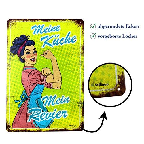 Placa metálica Retro Vintage con Texto en Inglés Kitchen Vintage Door Magnetic Advertising Sign Metal Sign 20 x 30 cm with Sayings Wall Saying Gift Mama, Placa de Metal, Küche, 20 x 30 cm