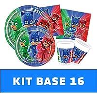PJ Masks Kit TIPILIANO para NIÑOS | Birthday Party Kit, Pigiamini | Producto Original |