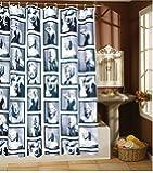 Duschvorhang Wannenvorhang Marylin Monroe 180x200cm, incl. 12 Ringe