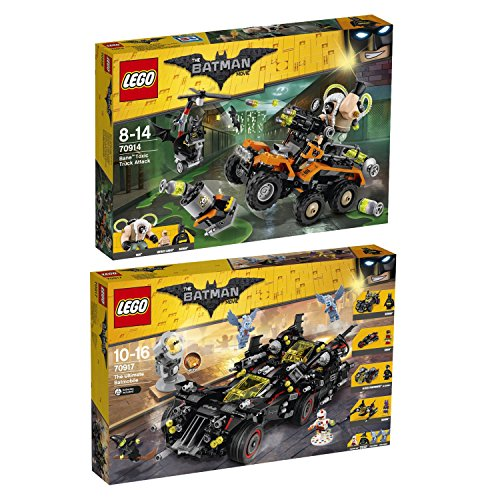 Lego-BATMAN-MOVIE-2pcs-Set-70914-70917-Bane-Toxic-Truck-Attack-The-Ultimate-Batmobile