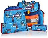 Scout Schulranzen-Set Basic Buddy Set 4 tlg Stormy Sea 36 cm Blau 72400765700
