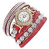 CCQ Damen Mode Uhren Lässig Analog Quarz Frauen Strass Uhr Kristall Armbanduhr für Frau Freundin Groveerble