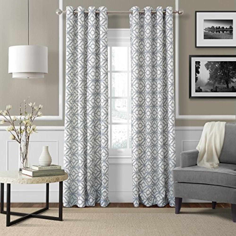la la la rondelle elrene home fashions 26865853650 haut style lin groupe spécial unique les rideau x dr ape, 52