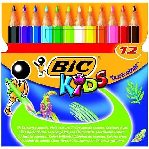 Lapiz Bic 12 Colores 8,5cm Mini Tropicono 2