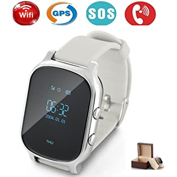 Niños Smartwatch GPS tracker con Phone, Smart Watch Niño Reloj de pulsera Tracking en Tiempo