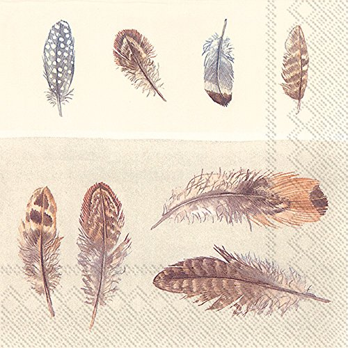 Ideal Home Serie Lunch-Servietten Feathers Feather Serie