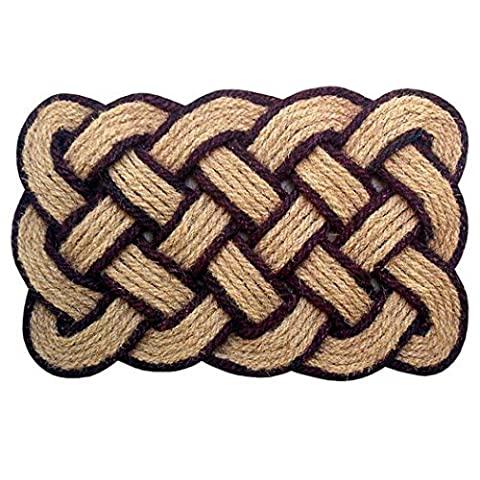 Creative Accents 22 x 36 Lovers Knot Coco Coir Indoor/Outdoor Doormat, Natural by Creative Accents