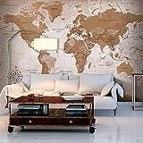 murando - Fotomurali - 300x210 cm - Carta da parati sulla fliselina - Carta da parati in TNT - Quadri murali XXL - Fotomurale Mappa del mondo Continente k-A-0108-a-a
