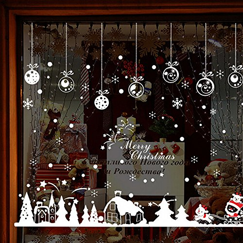 Gaddrt Wandaufkleber Weihnachten Kabine Removable Home Vinyl Fenster Wandaufkleber Abziehbild Dekor (A)