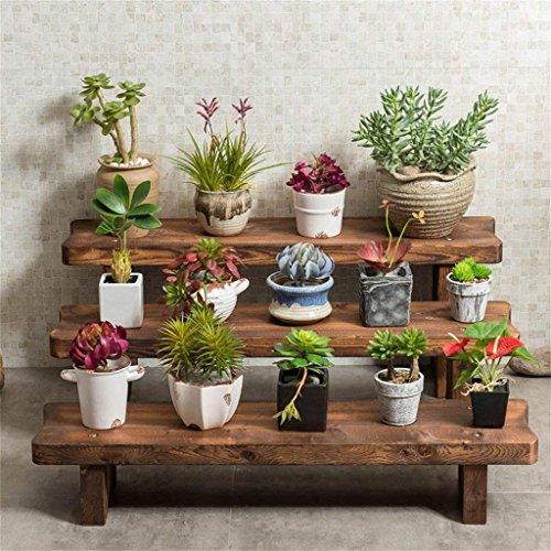 Scaffale scale balcone fioriera sgabello soggiorno in legno massello vasi a più piani scaffale mensola in legno per scaffali accessori (colore: b) (colore : f, dimensione : -)