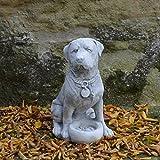 Gartendeko Rottweiler Hund Gartenfigur Steinguss frostfest