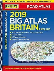 Philip's 2019 Big Road Atlas Britain and Ireland - Spiral: (Spiral binding) (Philips Road Atlas)