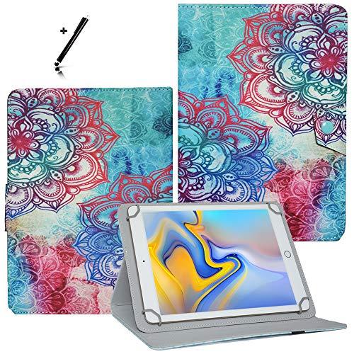 Tablet Hülle 10.1 Zoll für Blaupunkt Endeavour 101G Schutzhülle Etui Case mit Touch Pen und Standfunktion - Blumen 2