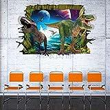 ufengke home Pegatinas de Pared 3D Mundo Jurásico de Dinosaurios Adhesivos Decorativos de Pared de Vinilo Extraíble DIY para Cuarto de Niños, Sala de Estar, Dormitorio, Sala de Juegos