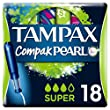 Tampax Compak Pearl Super Applicator Tampons - Pack of 18