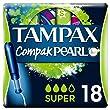 Tampax Compak Pearl Super Applicator Tampons - Pack of 18