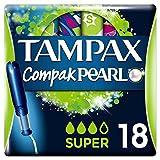Tampax Compak Pearl Super Applicator Tampons, 18 each (PANTRY)