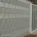 Videx PE Sichtschutzstreifen für Doppelstabmatten, 19 x 200 cm, anthrazit