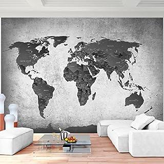 Weltkarte tapete schwarz weiss | Heimwerker-Markt.de