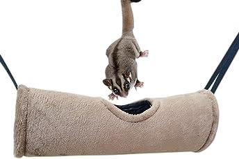 Crewell Pet Tunnel Aufhängen Höhle Hamster Hängematte Spielzeug Langlebig Plüsch Gang Haus für Eichhörnchen Frettchen Ratten
