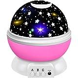 Tesoky Proiettore Stelle Bambini, Rotazione a 360 ° / 8 Colori Che Cambiano Luce Notturna - I Migliori Regali per I Bambini