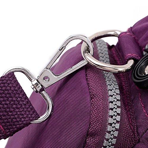 Sweetmeet in Nylon da donna, borsetta, borsa a spalla Borsetta multifunzione compatto da viaggio per lo sport, (Rosso anguria), Verde (verde)