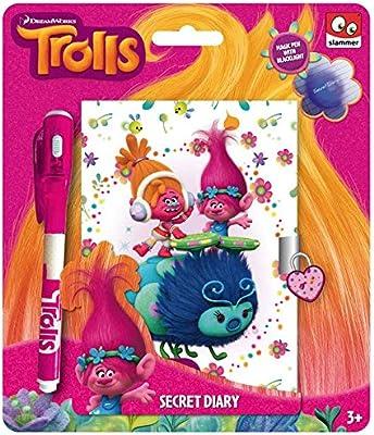 Taldec–TR16229F–Cuaderno secreto y bolígrafo de tinta UV de Trolls