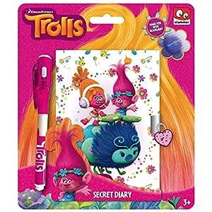 Taldec-TR16229F-Cuaderno Secreto y bolígrafo de Tinta UV de Trolls