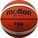 Molten Pallone da Pallacanestro  (disponibile in 3misure), Taglia 5, colore: Arancione/Bianco