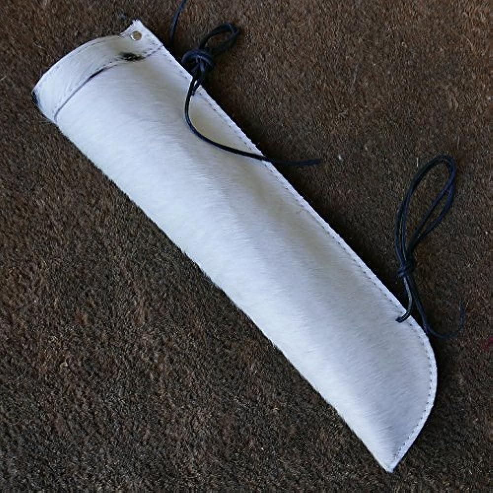 Kontrabass Bogen Köcher, weiß Rindsleder