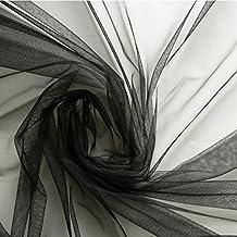 Tela de tul, Negro, suave, 150cm de ancho–se vende por metro