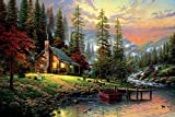 Faim Paintings Canvas Print Of Landscape Art Home In The Nature - Frameless, 36x24 Inch