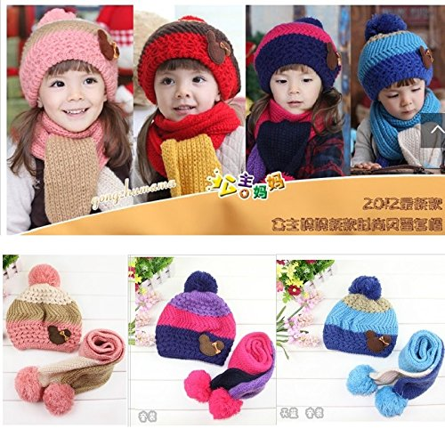 23% OFF on Generic 2   Knitting Girls Hats scarf sets for Boys Stocking Hat  newborn Cap Kids Wool Beanie Child winter hat Crochet snapback Bucket Bonet  on ... 8430c4f4b65