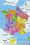 Carte De France 2017 Poster Karte von Frankreich 2017 (61cm