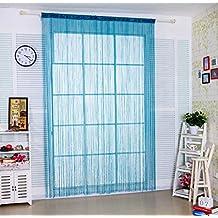 """Cortina de tiras Taiyuhomes, para decoración del hogar y separador con borla, azul, W90xL200cm(35x79"""")"""