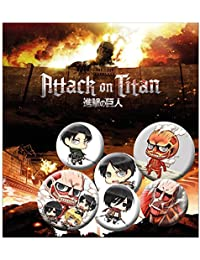Set de 6 botones decorativos Attack on Titan - Chibi Mix