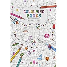 Libro para colorear para adultos, 24Páginas, motivos: Bosque & Jardín